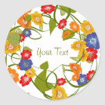 Fall Spring Floral Sticker