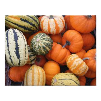 Fall Squash Harvest 4.25x5.5 Paper Invitation Card