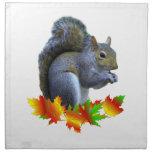 Fall Squirrel Cloth Napkins
