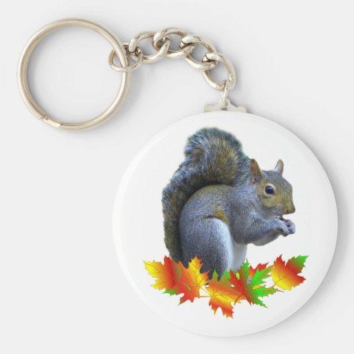Fall Squirrel Keychain