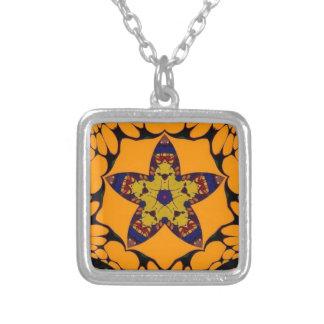 Fall Star Square Pendant Necklace