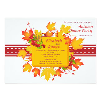 Fall Stitches Invitation