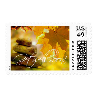 Fall Stones Get Well Soon Autumn Leaves Stamp