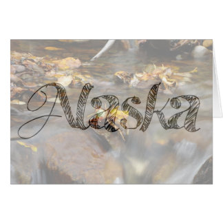 Fall Stream; Alaska Souvenir Card
