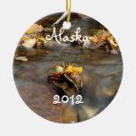 Fall Stream; Alaska Souvenir Ornaments