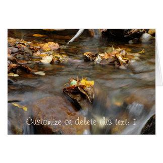 Fall Stream; Customizable Card