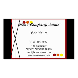 Fall Stripes and Dots Business Card Templates