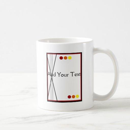 Fall Stripes and Dots Mugs
