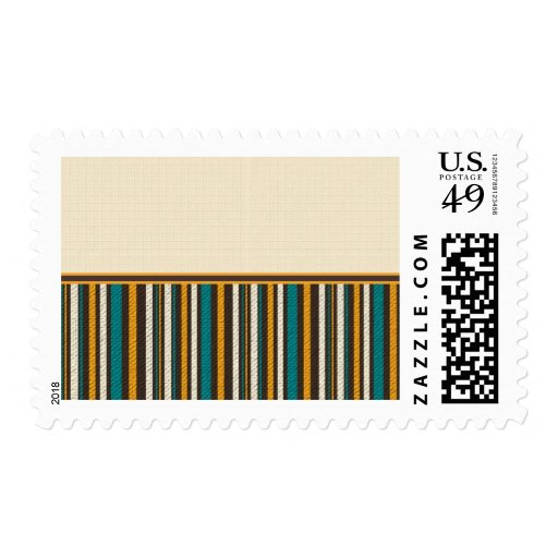 Fall Stripes on Cream 3 Stamps
