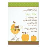 Fall Stroller Baby Shower Invitations Invite