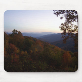 fall sun set on the blue ridge parkway mouse pad