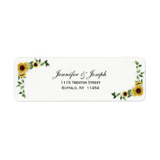 Fall Sunflower Rustic Barn Country Wedding Label