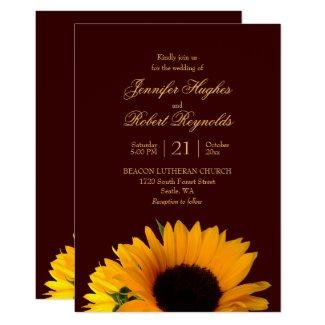 Fall Sunflower Wedding Invitation