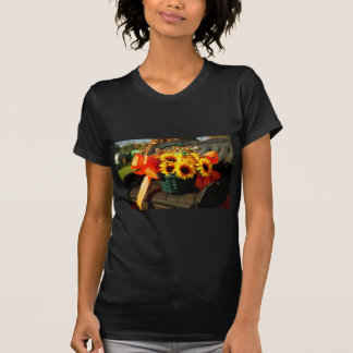 Fall Sunflowers on Antique Buggy Seat Tee Shirts