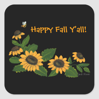 Fall Sunflowers Sticker