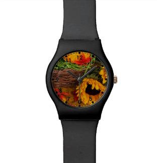 Fall Sunflowers Wrist Watch