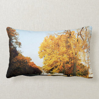 "Fall Sunset Polyester Lumbar Pillow 13"" x 21"""