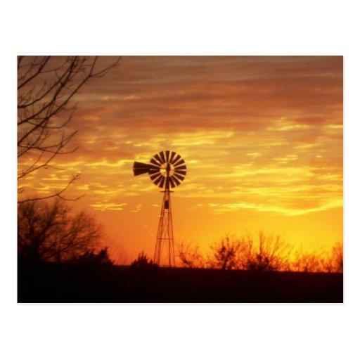 Fall Sunset Postcard