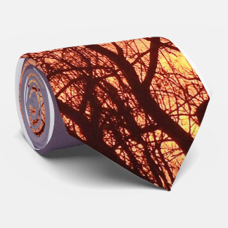 Fall sunset tie