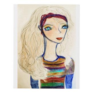 Fall sweater girl 3 11x14 panel wall art
