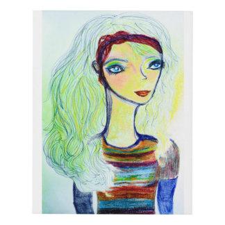 Fall sweater girl two 11x14 panel wall art