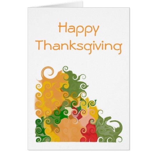 Fall Swirls In-Thanksgiving Card