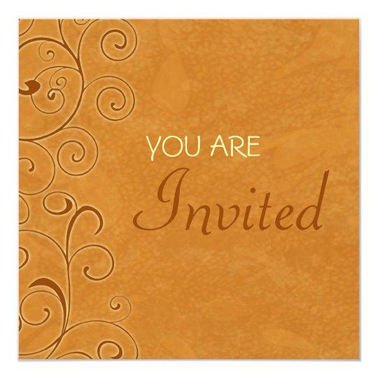Fall Swirls Thanksgiving Invitation Card