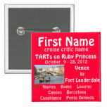 FALL TA 2012 RUBY NAME TAG 2 INCH SQUARE BUTTON
