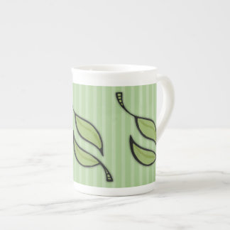 Fall Tango Leaves green Bone China Mug