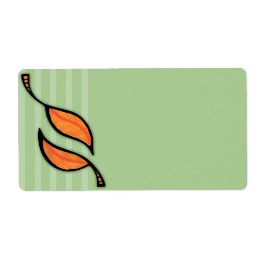 Fall Tango Leaves orange Address Label