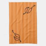 Fall Tango Leaves orange Kitchen Towel