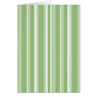 Fall Tango Stripes green Card