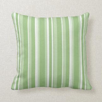Fall Tango Stripes green Cushion Pillow