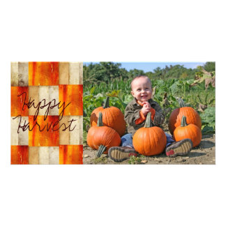 Fall textured block photocard card