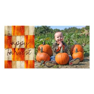 Fall textured block photocard photo card
