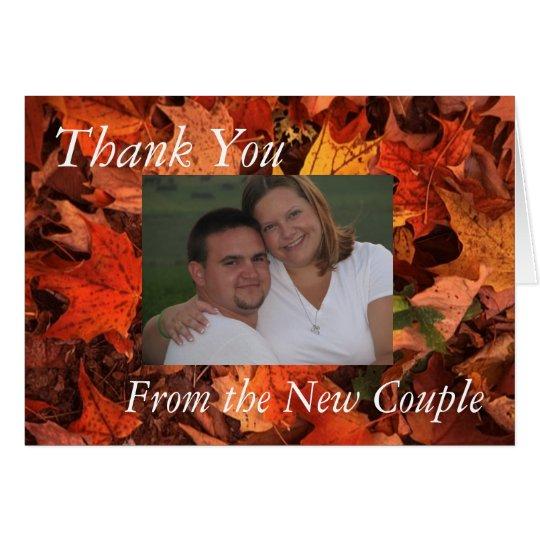 Fall Thank You Card