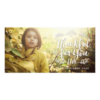 Fall Thankful For You Thanksgiving Photo Card