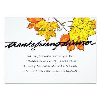 Fall Thanksgiving Dinner Invitation