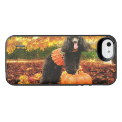 Fall Thanksgiving - Gidget - Poodle iPhone SE/5/5s Battery Case