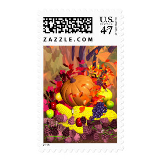 Fall Thanksgiving Harvest Postage
