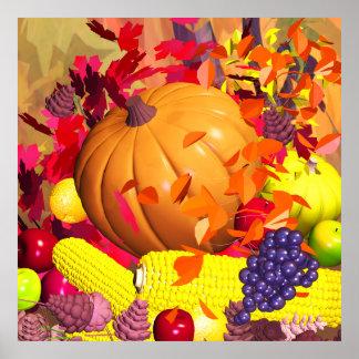 Fall Thanksgiving Harvest Poster