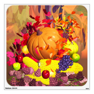 Fall Thanksgiving Harvest Wall Decal