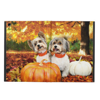 Fall Thanksgiving - Max & Leo - Yorkies iPad Air Cover