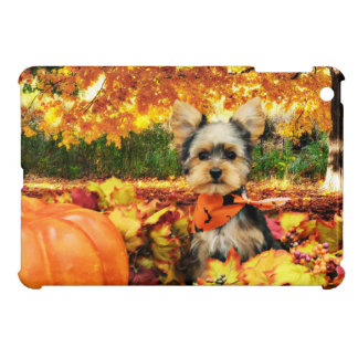 Fall Thanksgiving - Max - Yorkie iPad Mini Cases