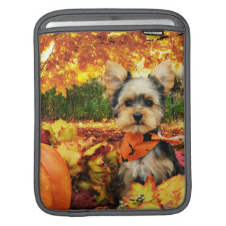 Fall Thanksgiving - Max - Yorkie Sleeve For iPads