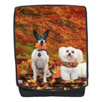Fall Thanksgiving - Monty Fox Terrier & Milly Malt Backpack