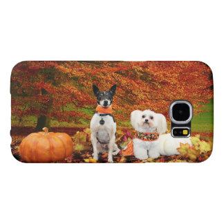 Fall Thanksgiving - Monty Fox Terrier & Milly Malt Samsung Galaxy S6 Case