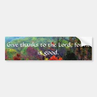 Fall Thanksgiving Photograph Bumper Sticker