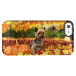 Uncommon iPhone 5/5s Permafrost® Deflector Case with Yorkshire Terrier Phone Cases design