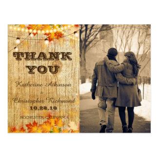 /fall theme postcard